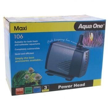 Maxi 106 Power Head Pump 3200 L/hr 3.5m 80W Fish Tank Aquarium Aqua One 11326