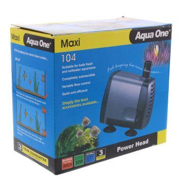 Maxi 104 Power Head Pump 2000 L/hr 2m 30W Fish Tank Aquarium Aqua One 11324