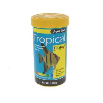 Tropical Flake Fish Food 100g 11558 Fish Tank Aquarium Aqua One