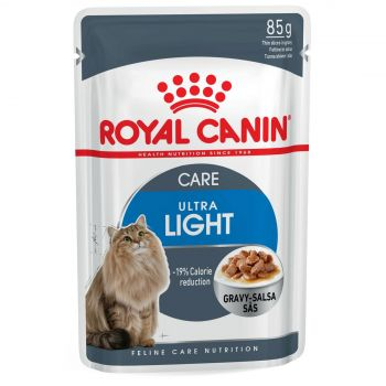 Royal Canin Feline Ultra Light Gravy 85g Cat Food Wet In Gravy Premium Quality
