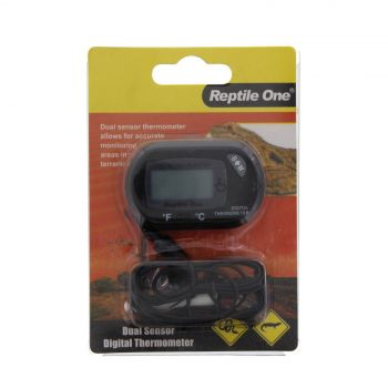 Reptile LCD Thermometer Dual Zone Sensor Reptile One Accurate Monitoring Temp