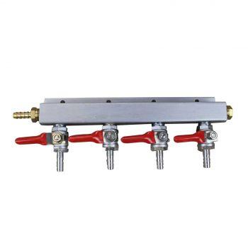 Gas Distributor - FOUR Way Manifold CO2 Brand New 4 Way R&L Home Brew