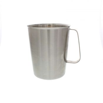 Stainless Steel Graduated Flask 2 Litre Home Brew Beer Brewing Or Cooking Tough