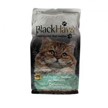 Cat Food Black Hawk Holistic Cat Seafood & Rice 1.5kg Premium Dry Food Health