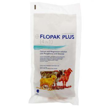 Flopak Plus 4 In 1 Calcium and Magnesium Solution Sterile 500ml Bayer