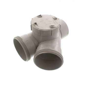 Stormwater Junction DWV S/A Left Hand 45 Degree 100mm Fitting PVC Irrigation