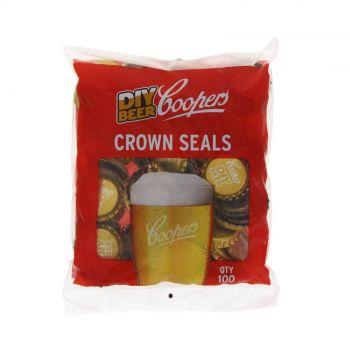 Coopers Crown Seal 100 Pack Cap Standard Glass Bottles Beer Brewing Home Brew