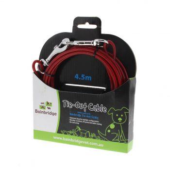 Tie Out Cable 4.5m Bainbridge Includes Two Snap Hooks Crack Resistant Easy Setup