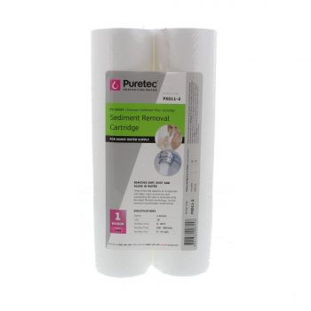 Sediment Water Filter Cartridge 10 Inch Twin Pack 1 Micron Puretec