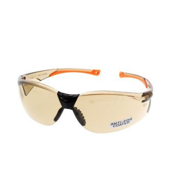 Santa Fe Bronze Safety Glasses Anti-Fog UV Protection Lightweight Durable