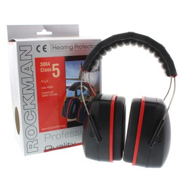 Red Maxisafe 3004 Earmuff Class 5 - 32dB Safety Sweat Reducing Ear Cushions