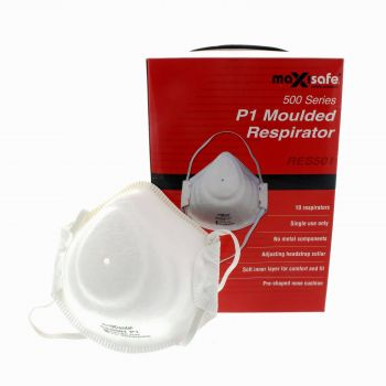 P1 Respirator 10 Pack Safety Moulded Wide Variety Of Face Profiles Safe Breath