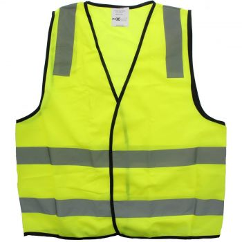 Hi-Vis Yellow Safety Vest Day/Night L Pattern Reflective Tape AS NZS Compliant