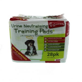 Urine Neutralising Pad 28 Pack Masterpet Dog Puppy Toilet Super Absorpent Clean