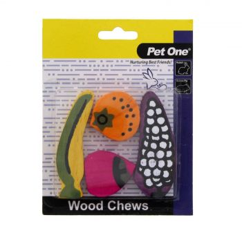 Wood Chews For Small Animals 4 Pack (S/M) Pet One Gnawing Animal Chew Health