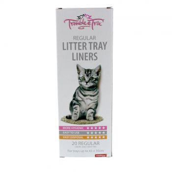 Trouble and Trix Litter Liners Regular 20 Pack For trays up to 43 x 35cm