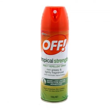 Off! Aerosol Tropical 150g Strong 160g/L Picaridin Formula 6 Hour Protection
