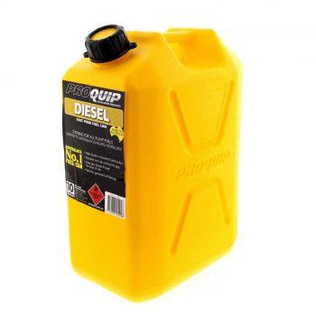 Fuel Can 10L Diesel Yellow Plastic Slip Resistant Australian Standard Heavy Duty