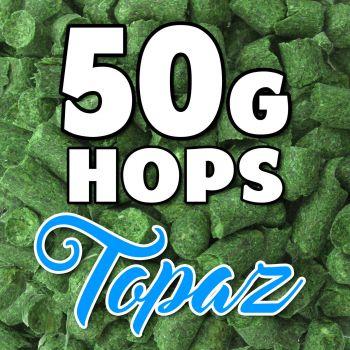 TOPAZ Hop Pellets 50g Hops AUS Home Brew Beer Sealed For Freshness Aroma Taste