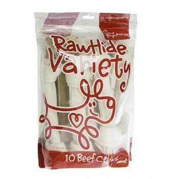 Yd Rawhide Variety 10Pk Lge