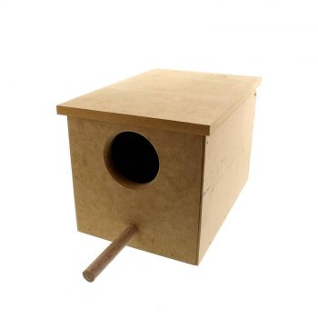 Wooden Small Parrot Nest Box 9W x 29D x 19.5H cm Avi One House High Quality