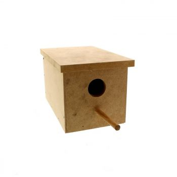 Wooden Finch Nest Box 12.5W x 20.5D x 12.5H cm Avi One House High Quality Strong
