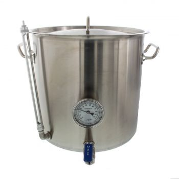 Heavy Duty Stainless Steel Stock Pot 32 Quart Gauge Thermometer Sight Premium