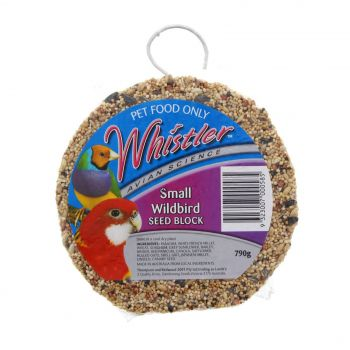 Whistler Small Wild Bird Block 790g Lovitt's Hook Ready To Hang Feed Feeding