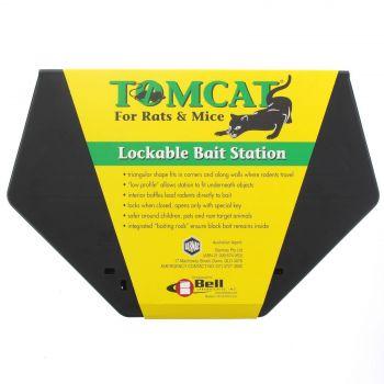 Tomcat Low Profile Lockable Bait Station Mouse Rat Pest Rodent