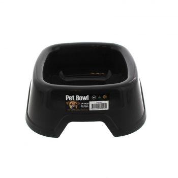 Dog Bowl Square Sml Black K9 Homes Heavy Duty Plastic Easy To Clean