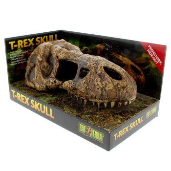 Exo Terra T-Rex Skull Realistic Secure Hiding Spot Reptile Amphibians Ornament