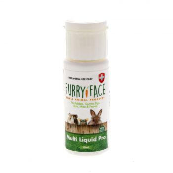 Furry Face Multi Liquid Pro 50ml Small Animal Health Aid Guinea Pig Rodent Mouse