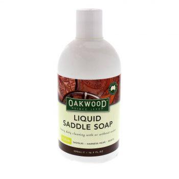 Oakwood Liquid Saddle Soap 500ml Removes Dirt Grime Grease Stains Saddlery
