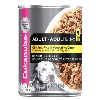 Eukanuba Dog Food Can Adult Chicken, Rice & Veg 375g High Protein Premium Pet