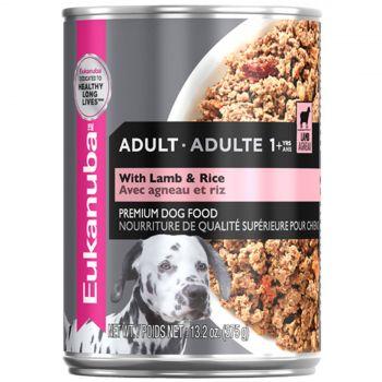 Eukanuba Dog Food Can Adult Lamb & Rice 375g High Protein Premium Pet Healthy