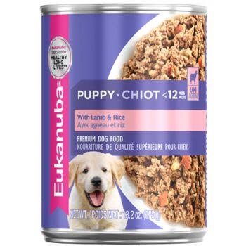 Eukanuba Dog Food Can Puppy Food Lamb & Rice 375g High Protein Premium Pet