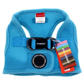 Puppia Dog Puppy Soft Vest Blue LARGE Polyester Air Mesh Superior Comfort