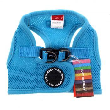 Puppia Dog Puppy Soft Vest Blue MEDIUM Polyester Air Mesh Superior Comfort