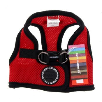 Puppia Dog Puppy Soft Vest Red Polyester Air Mesh Superior Comfort