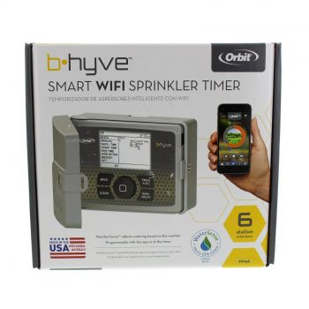 Orbit B-Hyve 6 Station WiFi Controller Outdoor Irrigation Mobile App Enabled