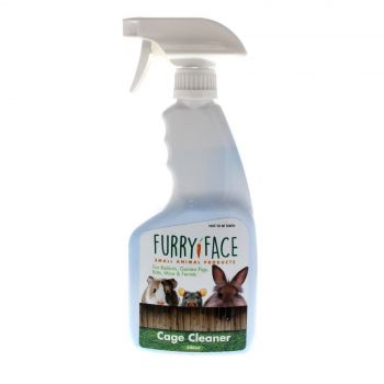 Furry Face Cage Cleaner 500ml Small Animal Health Rabbit Guinea Pig Clean