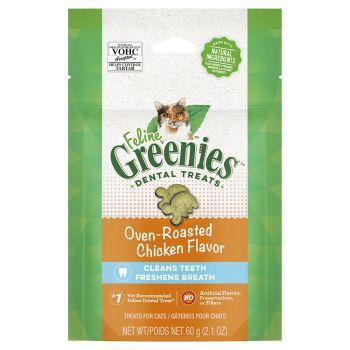 Feline Dental Treats Oven Roast Chicken 60g Greenies Cat Treat Food Healthy