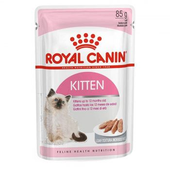 Royal Canin Instinctive Kitten Loaf 85g Cat Food Wet Loaf Style Premium Food