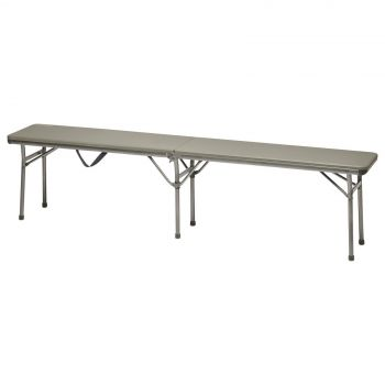 Coleman Bench Fold In Half 6 Foot Safety Hinge Easy Setup Camping Outdoors