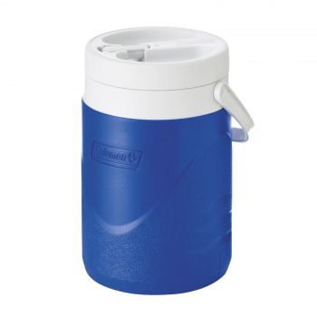 Coleman Jug Blue Polylite 3.8L Sports Team Wide Mouth Flip Spout Camping Outdoor