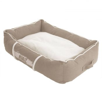 Rogz Dog Bed Lounge Podz Stone Small Easy Zip Machine Washable Pet Bed Premium
