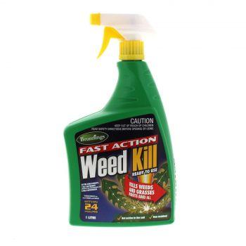 Brunnings Weed Killer Fast Action RTU 1L Results In 24 Hours Rapid Action Killer