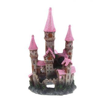 Ornament Ruined Underwater Castle Pink Small Kongs Non Toxic Aquarium Fish Deco