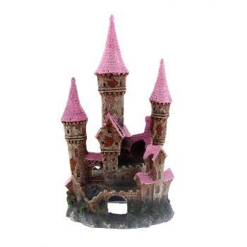Ornament Ruined Underwater Castle Pink Large Kongs Non Toxic Aquarium Fish Deco