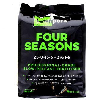 Lawnporn Fertiliser Four Seasons 4kg Dual Action Slow Release Professional Grade